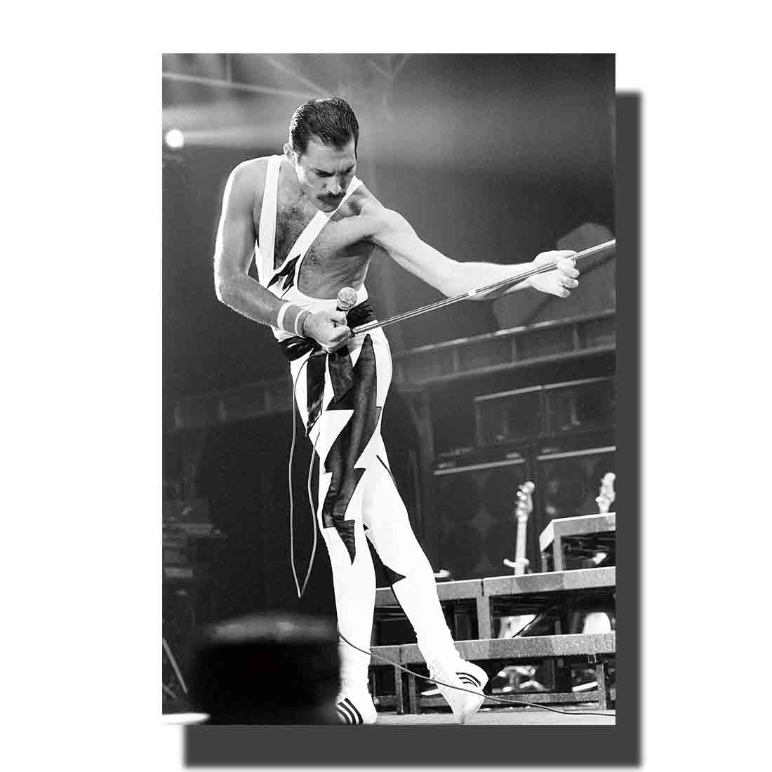 L411 Art Freddie Mercury Queen Legendary Singer Hip Hot Fabric Painting 14x21 24x36 Poster Print Decoration Room Wall Picture