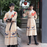 New Hanfu Costumes For Men Chinese Traditional Classical Dance Clothes Ming Dynasty Ancient Dress Stage Cosplay Hanfu DQL3084
