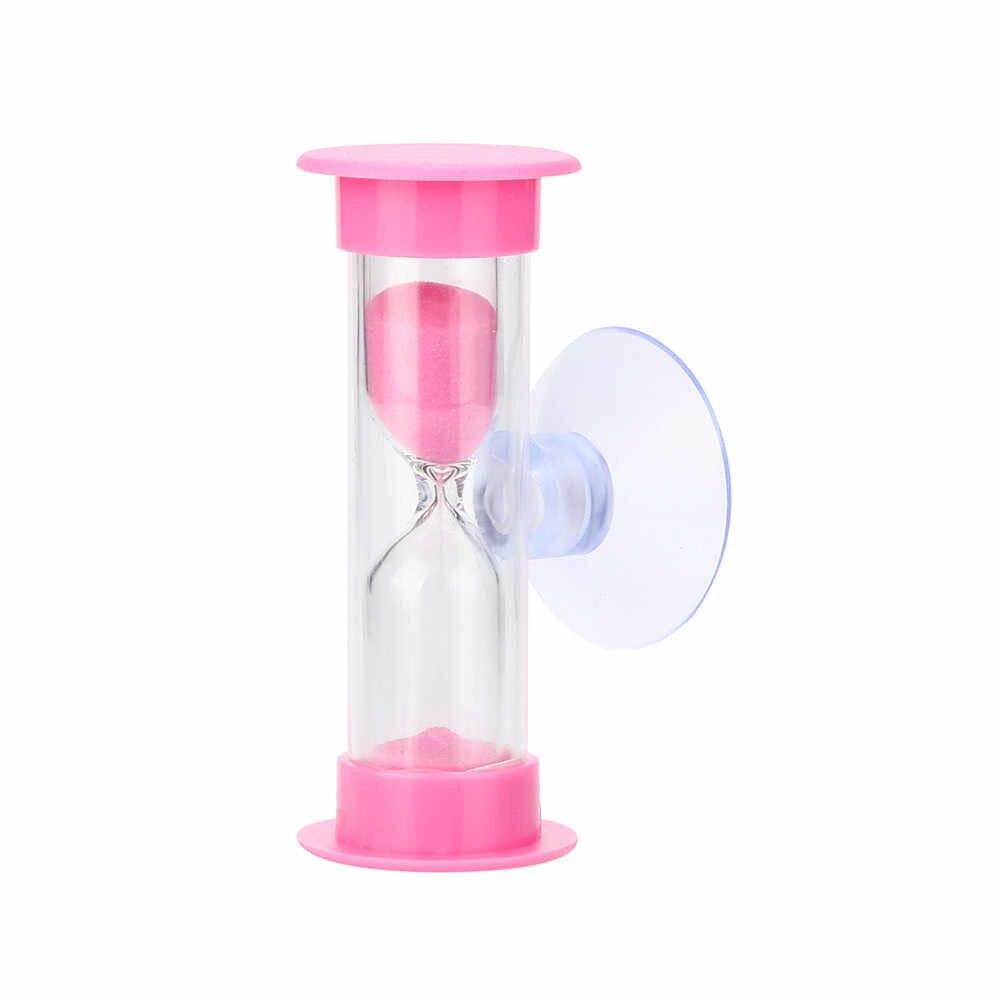 3 דקות מיני שעון חול עבור מקלחת טיימר/שיניים צחצוח טיימר עם יניקה כוס עופרת משלוח זמן שעון חול מדחום שעון שעונים