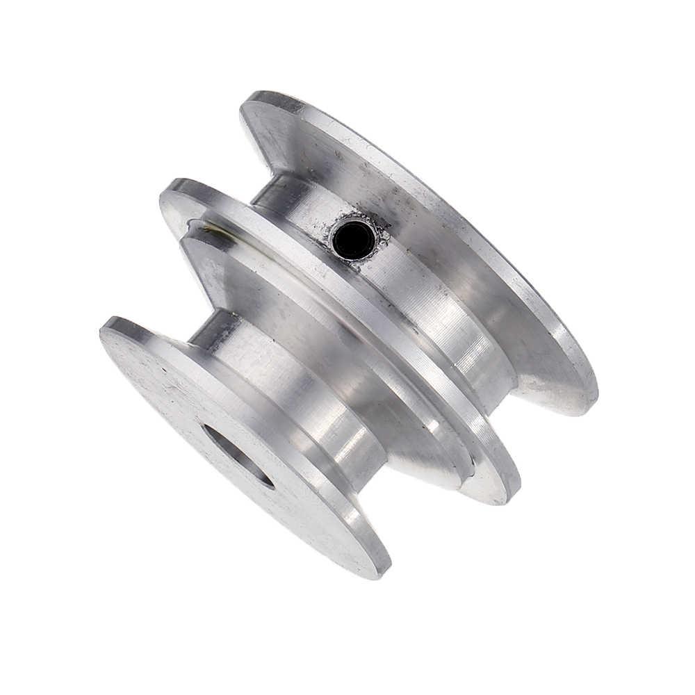 سبائك الألومنيوم 40 و 50 مللي متر بكرة أخدود مزدوج 8-20 مللي متر ثابت تتحمل الخامس شكل بكرة عجلة ل 10 مللي متر حزام مستدير