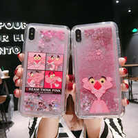 Pink Panther Phone Case For Samsung Galaxy J3 J4 J5 J6 J7 J8 A3 A5 A6 A7 A8 A9 Plus 2017 2018 A A10 A20 A50 A70 Quicksand Cover