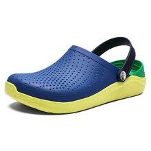 2019 Summer New Mens crocks shoes Clogs Sandals EVA Lightweight Beach Slippers For Men Women Unisex
