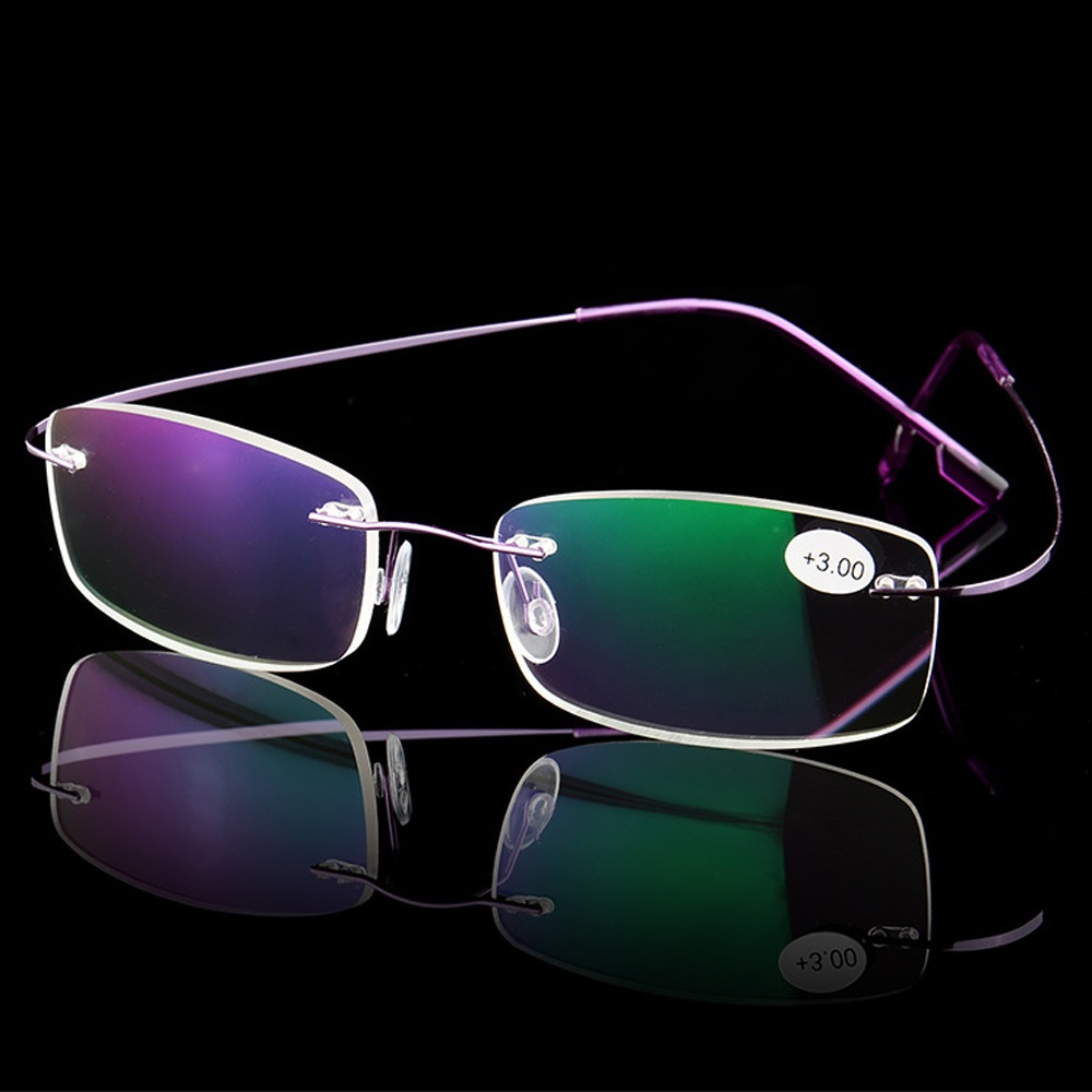 Ultralight Titanium Rimless Reading Glasses Men Women Clear Len Eyeglasses Magnetic Presbyopic Eyeglass With Diopters +1.0-+3.5