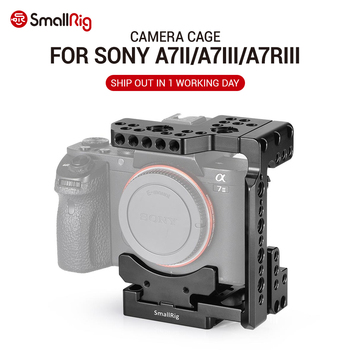 SmallRig Quick Release DSLR Camera Cage With Arca Style Quick Plate Half Cage for Sony A7R III/A7 III/A7 II/A7R II/A7S II 2238