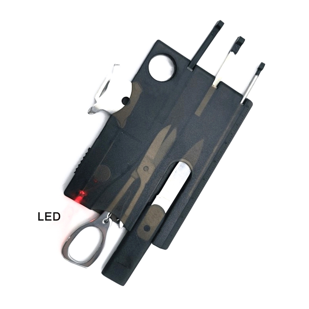 10 In 1 Pocket Credit Card EDC Multi Tools Outdoor Survival Camping Equipment 1 Box Portable Hiking Card Tools Gear