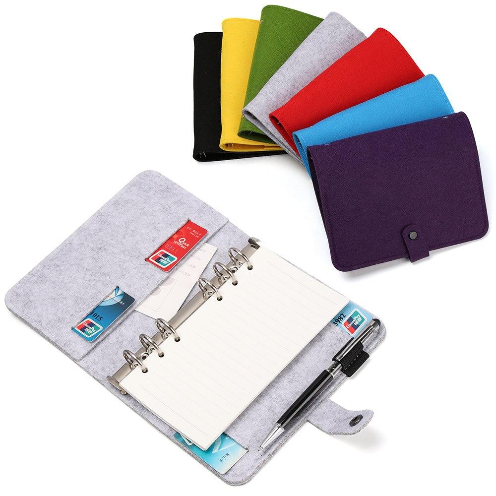 A5 A6 Тканевый блокнот из войлока, бумажный планер, внутренняя страница, кольцо, настольный бумажный держатель, портативный дневник, подарок|Записные книжки|   | АлиЭкспресс
