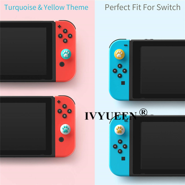 IVYUEEN for Nintendo Switch Lite Animal Crossing Analog Thumb Grip for Nintend Swith Joy Con JoyCon Controller Joystick Cap Game 3