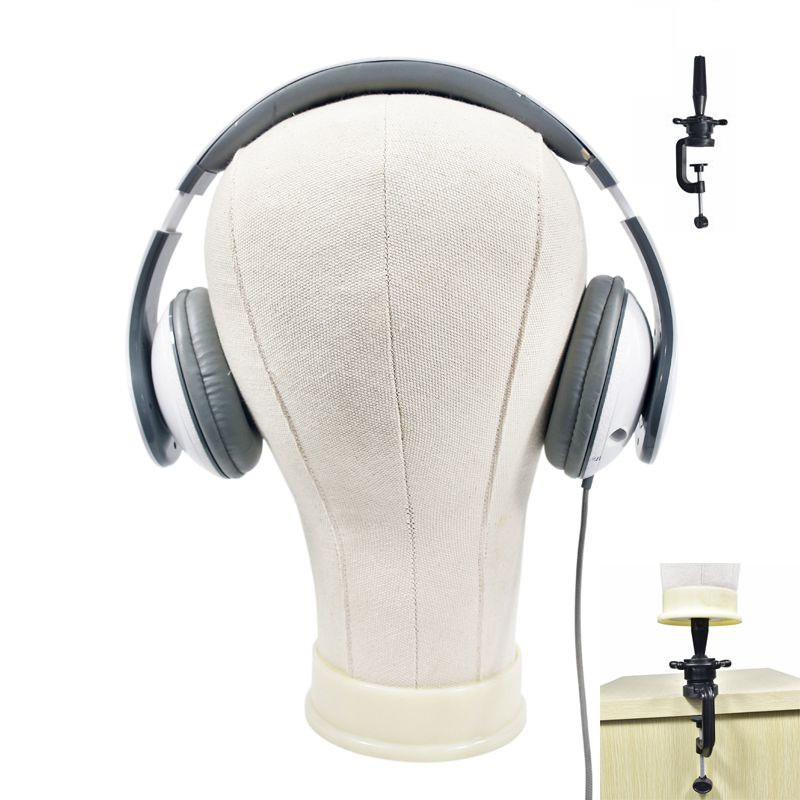 1 PC off white Canvas Block Head Training Mannequin Head Display Styling Mannequin Manikin Head Wig Stand wig head Stand