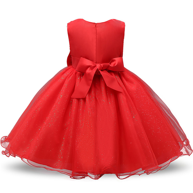 Kids Christmas Dress for Girls Clothes Children Lace Princess Flower Dress Elegant Wedding Birthday Prom Gown New Year Costume 4