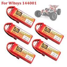 Оригинальный литий-полимерный аккумулятор Wltoys 144001, 2s, 7,4 В, 3300 мАч, T-образный разъем для Wltoys 1/14, 144001, литий-полимерный аккумулятор для радиоуп...