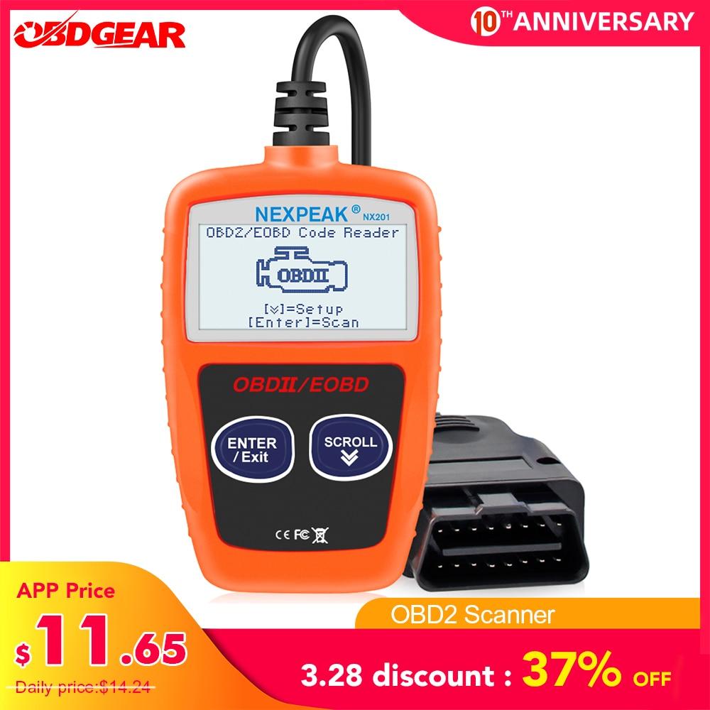 NX201 OBD2 Scanner Code Reader Car MS309 Auto Diagnostic Tool OBD 2 Car  Diagnostic Engine Code Reader Better Then ELM327 OBD