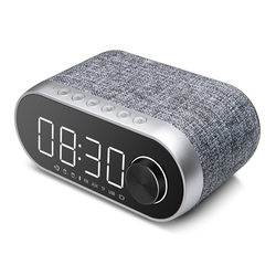 ABHU-Bluetooth Speaker Wireless Portable LED Alarm Clock Multifunction Speaker