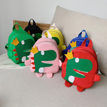 Children's small school bag 2019 new personality dinosaur kindergarten boys and girls baby cartoon baby anti-lost backpack(China)
