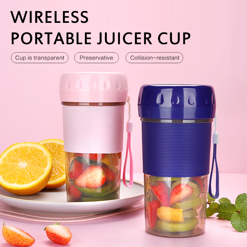 Portable Electric Juicer Small Fruit Cup Food-Blender Mini Food Processor 300ML Blender Electric Kitchen Mixer Juicer Fruit Cup