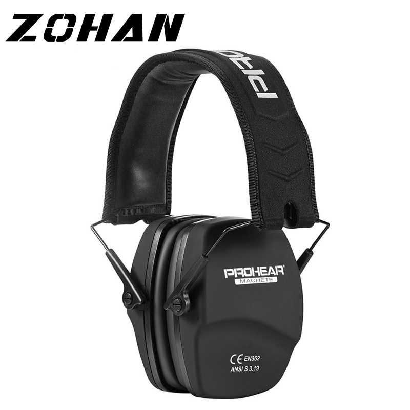 ZOHAN Noise Reduction Safety EarMuffs NRR 26dB Shooters Hearing Protection Earmuffs Adjustable Shooting Ear Protection Protector(China)