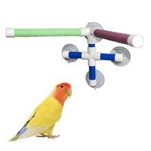 Copos de sucção pet aves papagaios banho chuveiro pé plataforma barra dupla vara pata estação suporte moagem interessante poleiros