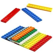 Tijolos placa 20 pçs/lote monta partículas 2x10 peças de tijolos educacional presente criativo crianças brinquedos