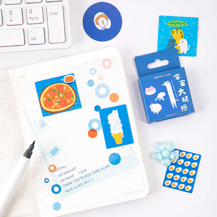 46 ชิ้น/กล่อง Blush สำหรับวัยแรกรุ่น Bullet Journal ตกแต่งเครื่องเขียน MINI ชุดสติกเกอร์ Scrapbooking DIY ไดอารี่อัลบั้ม Stick Lable