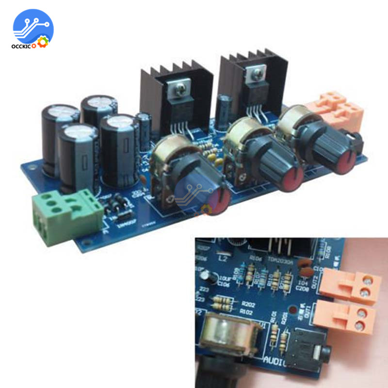 TDA2030 Amplifier Board Audio Speaker Sound Supply TDA2030 Modulo Amplificador 18WX2 Hifi Stereo Volume Control Board