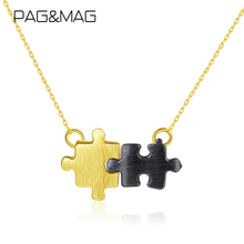 Pendant Necklace Puzzle Jewelry 925-Sterling-Silver Womens MAG PAG SN0356 Couple