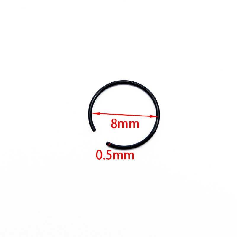 40 ชิ้น/ล็อต 8x0.5 มม.สแตนเลสสตีลที่มีสีสันแฟชั่นNose Hoop Noseแหวนสตั๊ดBody Piercingเครื่องประดับPunkสไตล์fitสำหรับCoolสไตล์