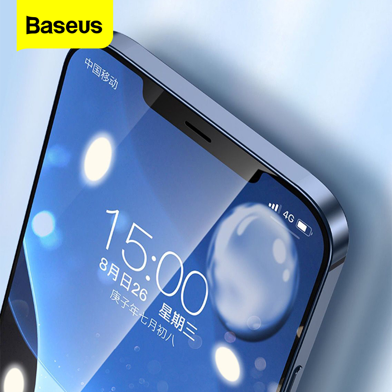 Baseus 2Pcs 0.23mm Tempered Glass For iPhone 12 11 Pro XS Max XR X Full Cover Screen Protector For iPhone 12Pro Max Glass Film