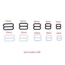 100pcs Metal Lingerie Adjustable Sewing Bra Sliders Rings Buckles DIY 6mm-15mm LX9E