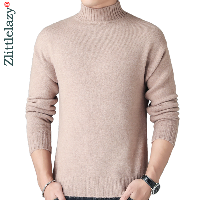 2019 New Thick Warm Winter Turtleneck Knitted Pull Sweater Men Wear Jersey Dress Pullover Knit Mens Sweaters Male Fashions 02144