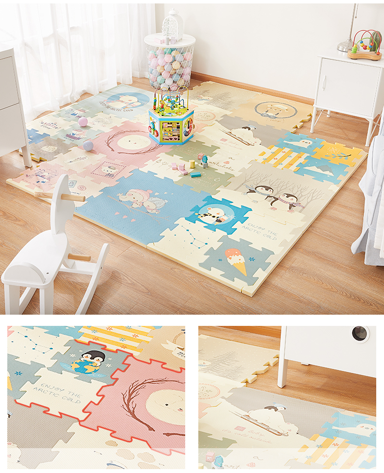 Hb2b11df7880648c6ba8c6c04673b0cccY BabyGo Puzzle Baby Play Mat XPE Foam Waterproof 2cm Thickened children's Carpet Crawling Pad Living Room Activity Floor Mat