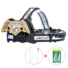 Powerful LED Headlight headlamp 3/5/7/9/11 LED T6 Head Lamp Power Flashlight Torch Head Light 18650 Battery For Camping Fishing best price 8000lm led headlight xml 3 5 led t6 headlamp power rechargeable 18650 head torch waterproof for camping fishing