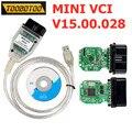 V15.00.028 для Toyota MINI VCI J2534 чип FT232RL Автомобильные диагностические кабели MINIVCI TIS Techstream Поддержка нескольких языков