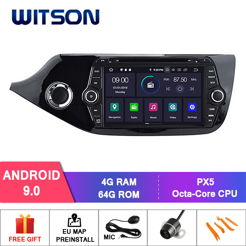 WITSON Android 9.0 IPS HD Screen for KIA CEED 2012 CAR DVD GPS NAVIGATION  4GB RAM+64GB FLASH 8 Octa Core+DVR/WIFI+DSP+DAB+OBD