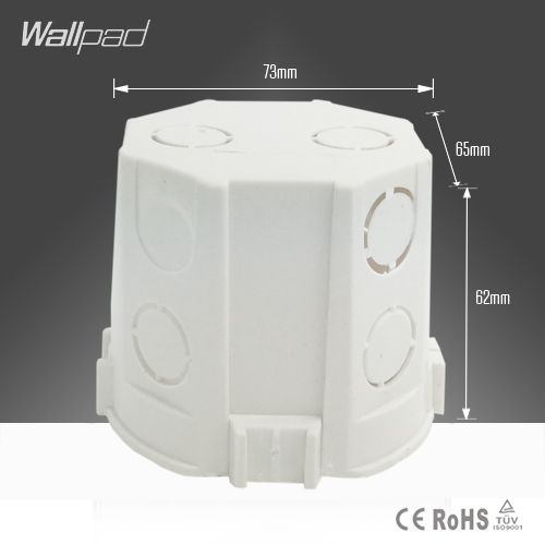 Wallpad 73*62MM EU European Standard Cassette Universal Wall Mounting Box for Wall Switch and Socket Back Box, Free Shipping
