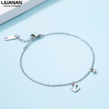 Stainless Steel Anchor Chain Bracelet Silver Color Dainty Charm Jewelry for Women Girls Accessories