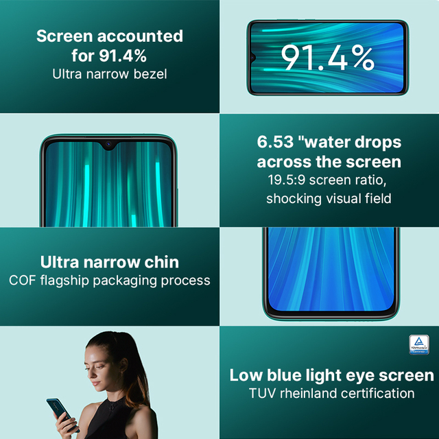 Global Version Xiaomi Redmi Note 8 Pro 6GB 64GB Mobile Phone 64MP Quad Camera MTK Helio G90T Octa Core Smartphone 4500mAh NFC 3