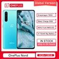 Глобальная версия OnePlus Nord 5G 8GB 128GB Смартфон Snapdragon 76 5G 6,44 ''90 Гц активно-матричные осид, 48MP Quad Warp 30 т мобильный телефон
