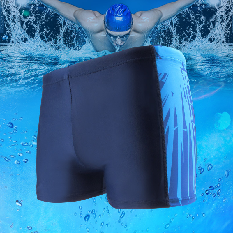 New Style Men's Swimming Trunks Boxer Hot Springs Beach Pool Large Size Industry Swimming Trunks-Style Bathing Suit Men's Swimmi