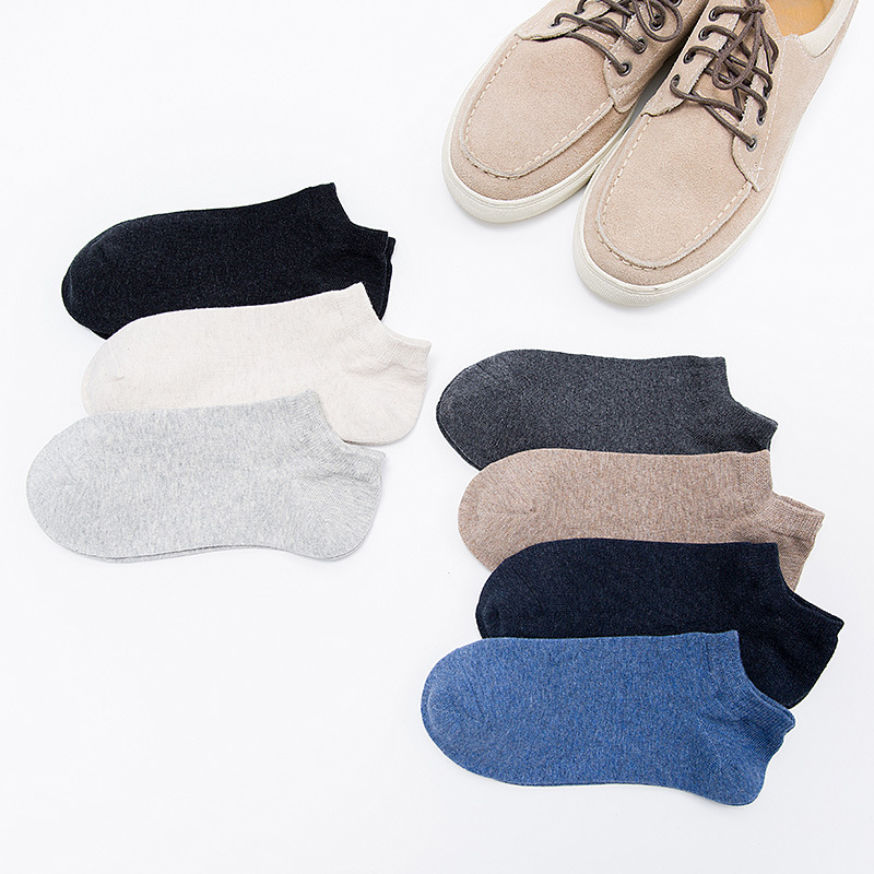 Socks MEN'S Socks Autumn Thin Pure Cotton Plastic Sweat Absorbing Sports Short Socks Low Top Low-Cut Hidden MEN'S Ankle Socks