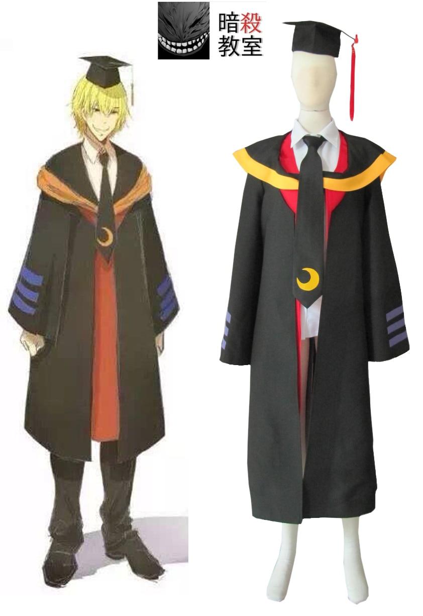 Anime Assassination Classroom Korosensei Cosplay Costume Class 3 E Teacher Uniform Suit Doctor Clothing Male Role Play Clothing
