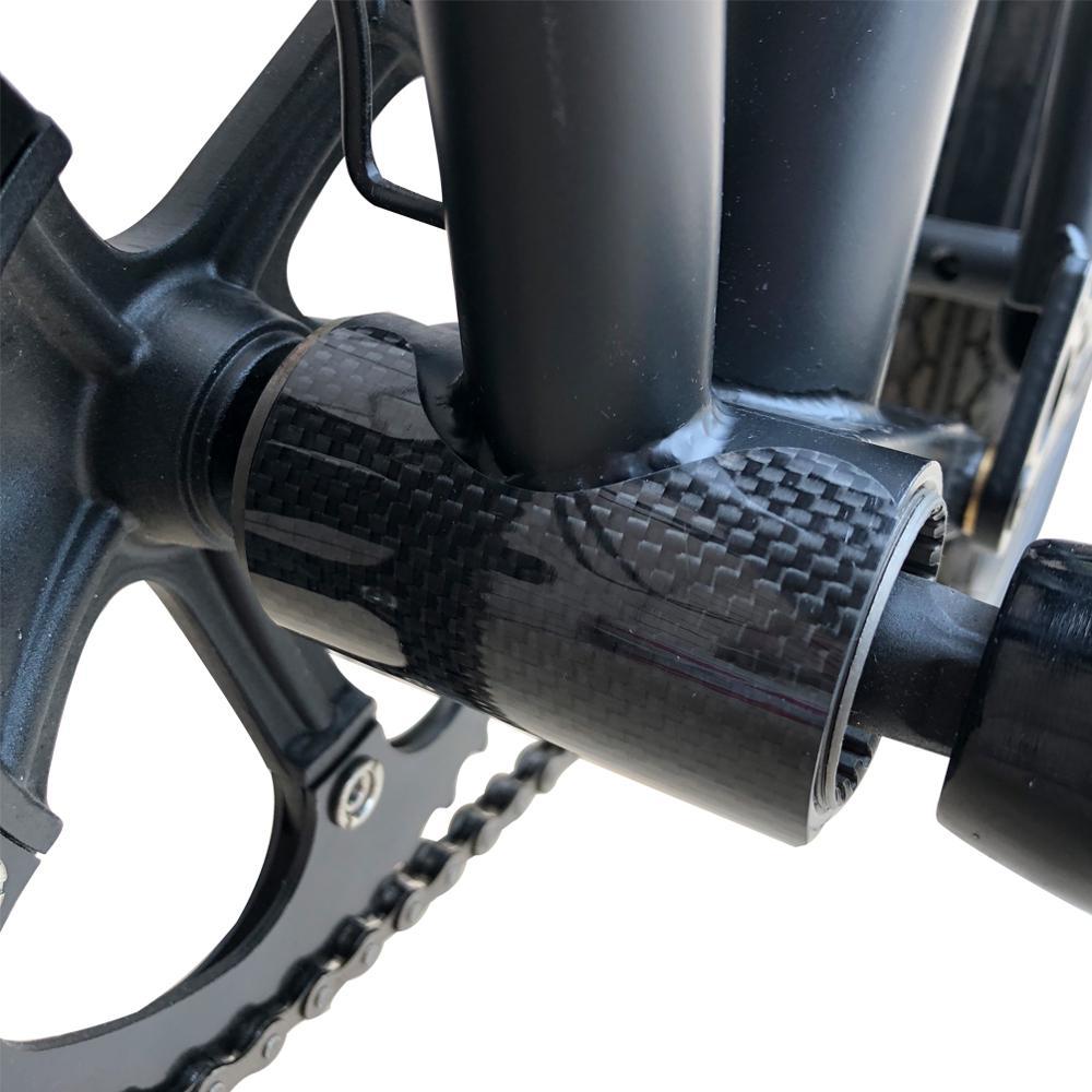 Twtopse Carbon Fiets Frame Protector Voor Brompton Vouwfiets Trapas Bb Sticker Bescherming Guard Pad Voor 3 Zestig