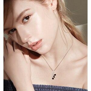 Image 2 - Черный ость 2020 новый 925 стерлингового серебра ювелирные изделия Элегантные ожерелья подвески модная цепочка из натурального бабочки для женщин Bijoux (украшения своими руками) KN015