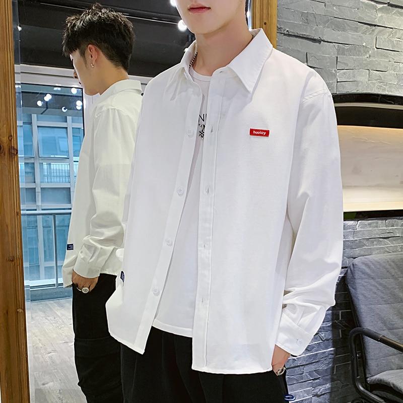 Men's Long Sleeve Business Dress Slim-Fit Clothes Long Sleeve Jacket Brand Shirts Men's Casual Comfortable Tooling Shirt Men's