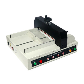 A4 Electric Paper Cutting Machine Manual Feeding Paper Heavy 40mm Thick Layer Paper Trimmer Cutting Device Max Width 330mm J330D