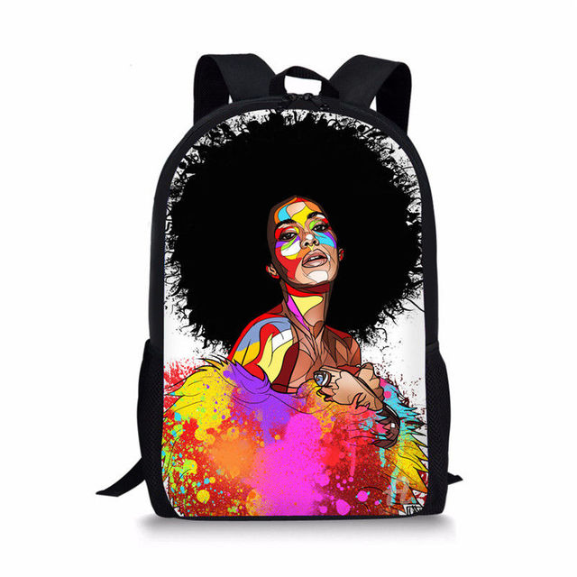 Black Queen African American Girl School Bag For Teenagers 2