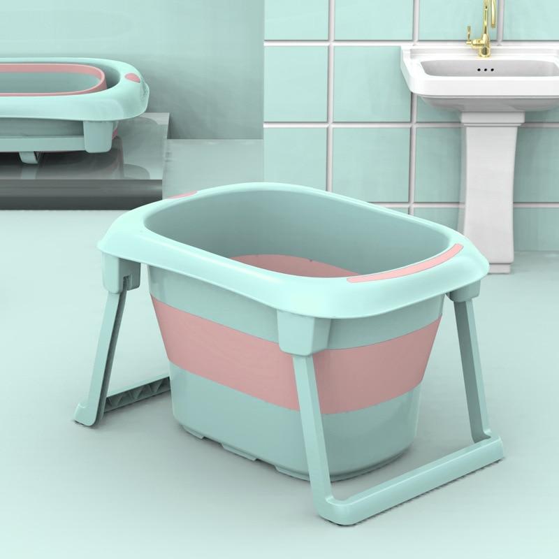 Newborn Baby Bathtub Children Folding Bathtub Infant Baby Can Lie Shower Tub Keep Warm Portable Baby Tub Bath 0-10 Year