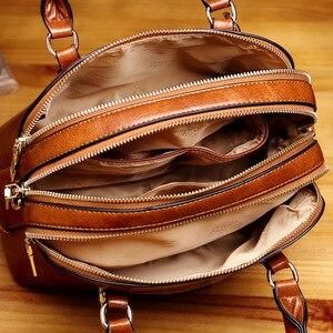 Image 4 - Leather Tote Bags For Women Handbags 2019 Luxury Designer Shoulder Crossbody Ladies Hand Bag Woman Handtas Torebki Damskie AB21