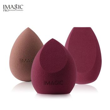 IMAGIC Makeup Mixer Soft Water Sponge Puff Professional Makeup Puff Sponge for Foundation Cream Concealer Makeup 3 Pack