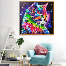MomoArt 5d Diamond Painting Special Shaped Cat Embroidery Animals Diy Colorful Picture Of Rhinestone Cartoon