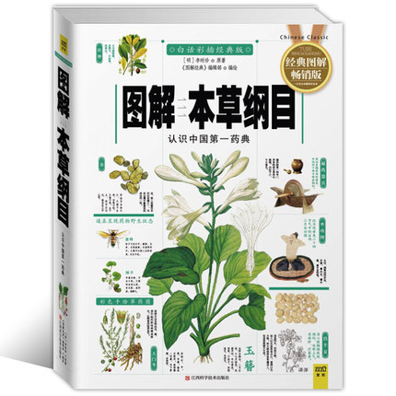 Compendium Of Materia Medica Li Shizhen Chinese Traditional Herbal Medicine Book With Pictures Explained  In Chinese