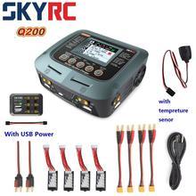 SKYRC Q200 1 כדי 4 אינטליגנטי מטען/פורק עם USB כוח + סניור עבור Lipo/LiHV/ליתיום ברזל/ליתיום יון/NiMH/NiCD סוללה